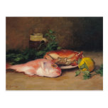 Crab and Red Mullet Postcard