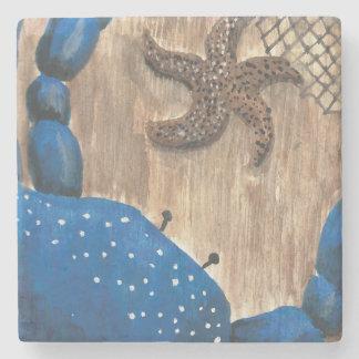 Crab and Starfish Stone Coaster