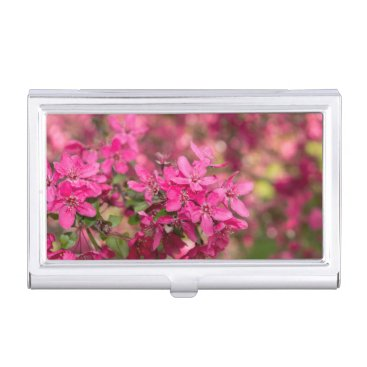 Professional Business Crab Apple Blooms Business Card Case