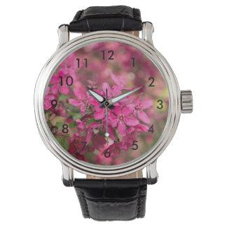 Crab Apple Blooms Wristwatch