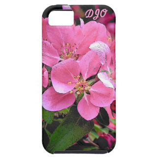 Crab Apple Blossom and your initials iPhone SE/5/5s Case