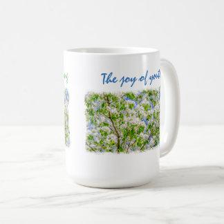 Crab apple blossom customizable coffee mug