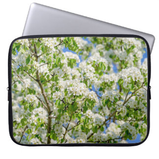 Crab apple blossom laptop computer sleeve