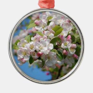 Crab apple blossom metal ornament