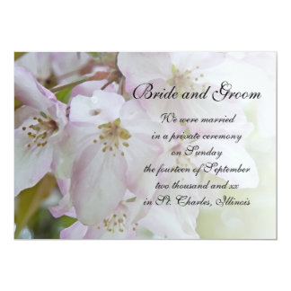 Crab Apple Blossoms Marriage Announcement