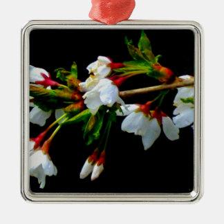 Crab-apple blossoms metal ornament