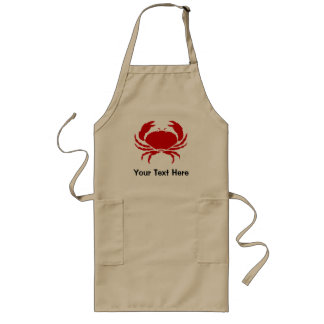 Crab apron with personalizable text   beige