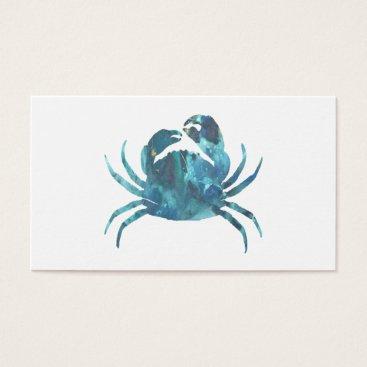 Beach Themed Crab art business card