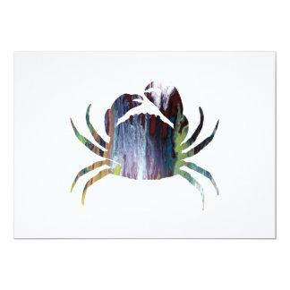 Crab art card