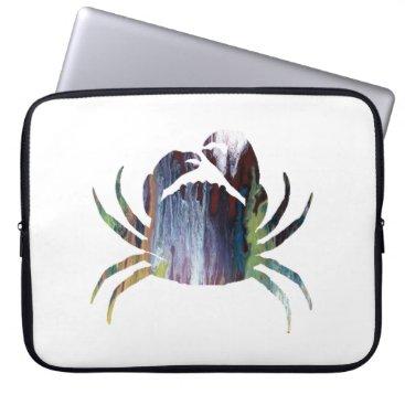 Beach Themed Crab art computer sleeve