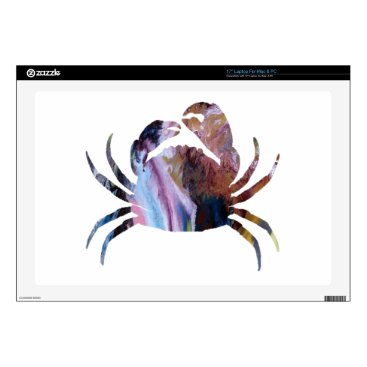 Beach Themed Crab art decal for laptop