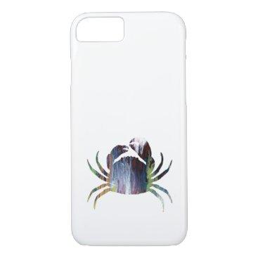 Beach Themed Crab art iPhone 7 case