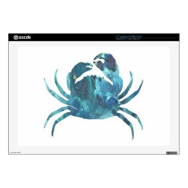 Beach Themed Crab art laptop skin
