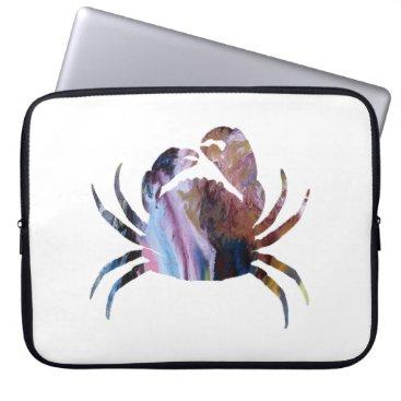 Beach Themed Crab art laptop sleeve
