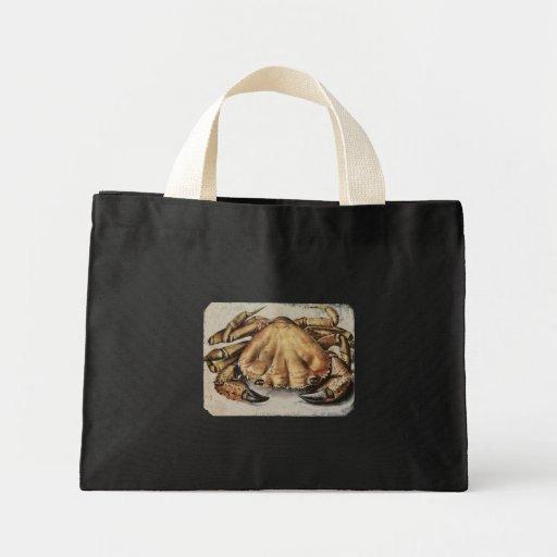 Crab Artwork Tote Bags