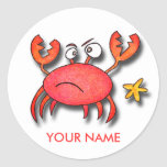 Crab Back To School Stickers!
