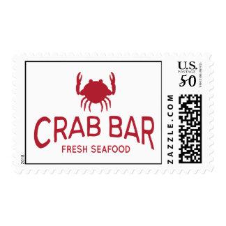 Crab Bar Fresh Seafood Logo Postage