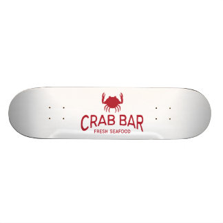 Crab Bar Fresh Seafood Logo Skate Board Decks