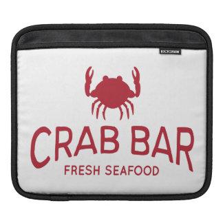 Crab Bar Fresh Seafood Logo Sleeve For iPads
