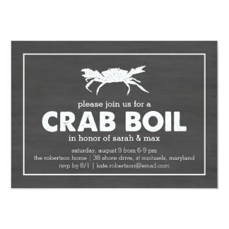 Crab Boil Black & White Chalkboard Card