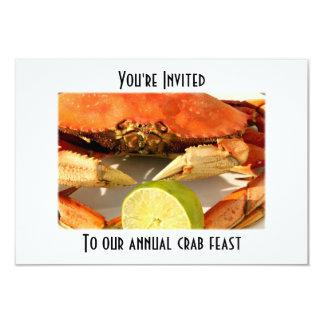 "Crab Boil Feast Invitations 3.5"" X 5"" Invitation Card"