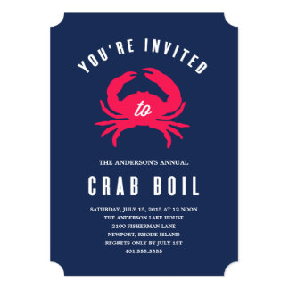 Crab Boil | Summer Party Invitation