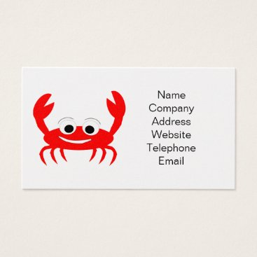 Professional Business Crab Business Card