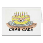 Crab Cake Greeting Card