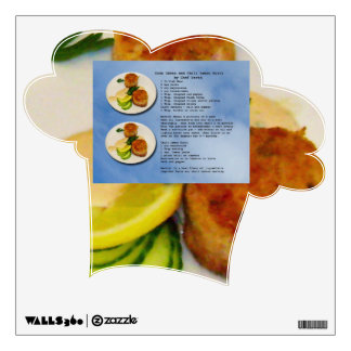 Crab Cake Recipe Chefs Hat Wall Decal