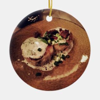 Crab Cakes ( Food and Beverage) Ceramic Ornament