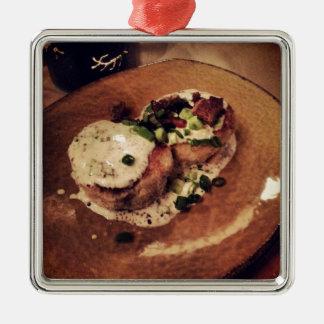 Crab Cakes ( Food and Beverage) Metal Ornament