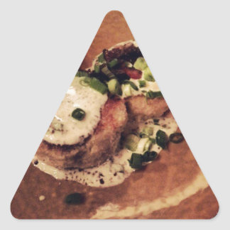 Crab Cakes ( Food and Beverage) Triangle Sticker