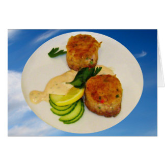 Crab Cakes Recipe all occasion Card