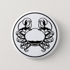 Crab Cancer Zodiac Horoscope Sign Button