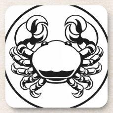 Crab Cancer Zodiac Horoscope Sign Drink Coaster