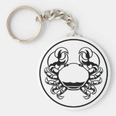Crab Cancer Zodiac Horoscope Sign Keychain