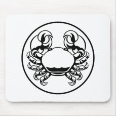 Crab Cancer Zodiac Horoscope Sign Mouse Pad