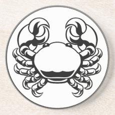 Crab Cancer Zodiac Horoscope Sign Sandstone Coaster