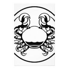 Crab Cancer Zodiac Horoscope Sign Stationery