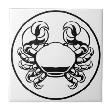 Crab Cancer Zodiac Horoscope Sign Tile