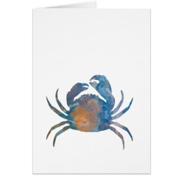 Beach Themed Crab Card