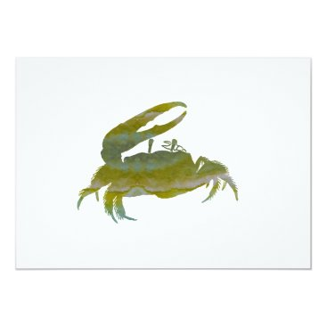Beach Themed crab card