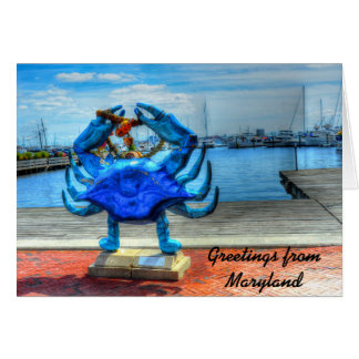 Crab Card-Greetings from Maryland Card