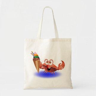 Crab Cartoon with Ice Cream Tote Bag