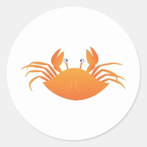Crab Classic Round Sticker