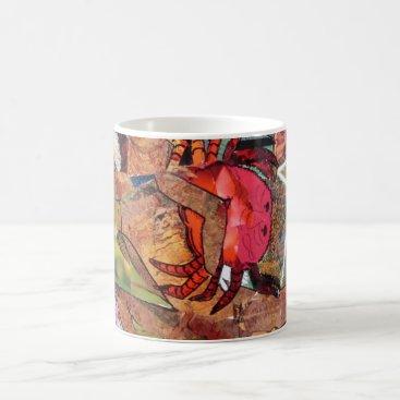 Coffee Themed Crab, collage, coffee cup, mug