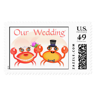 Crab Couple Postage Stamp