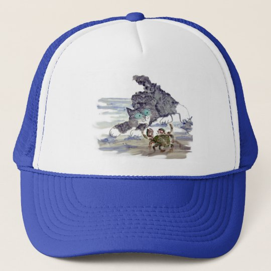 Crab Dancing - Kitten and Crab Tango Trucker Hat