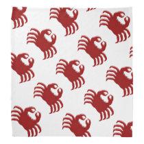 Crab Design Bandana