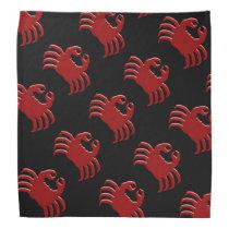 Crab Design Black Bandana